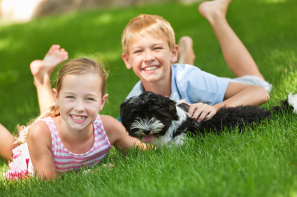 children_and_dog